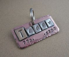 Very cool Pet ID Tag  Mixed Metals  Copper Nickel Brass by DoglegLeftDesigns