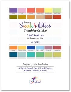 Swatch Bliss - 30 Pages Cover Coloring Book Art, Cool Coloring Pages, Printable Coloring Pages, Adult Coloring Pages, Colored Pencil Tutorial, Paper Stand, Work From Home Business, Bound Book, Red Design