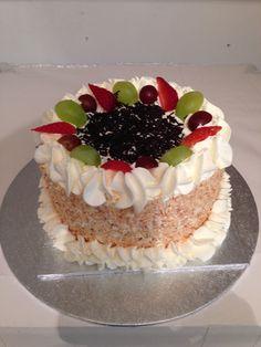 EGG-LESS CAKE WITH FRESH CREAM Fresh Cream, Tiramisu, Party Supplies, Egg, Cakes, Ethnic Recipes, Desserts, Food, Eggs