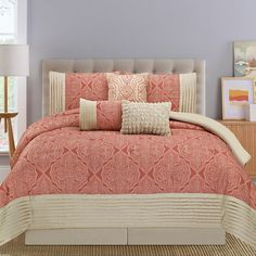 Lovely solid Coral Comforter