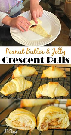 Crescent Roll Recipes: Peanut Butter and Jelly Crescents - Great recipe to make with kids. If you love PB&J sandwiches you will flip for these!