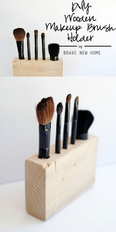 Make a DIY makeup brush holder that fits your brushes exactly - this project is easy and budget friendly.