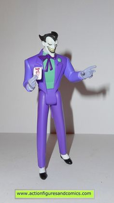mattel toys action figures for sale to buy: JUSTICE LEAGUE UNLIMITED (DC universe animated) The JOKER (1st release - black hair/purple suit) condition: excellent. nice paint, nice joints. nothing is b