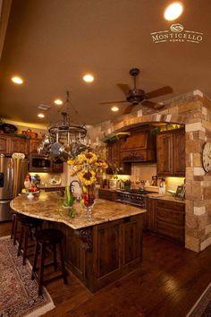 Tuscan design – Mediterranean Home Decor Elegant Kitchens, Luxury Kitchens, Beautiful Kitchens, Cool Kitchens, Country Kitchens, Contemporary Kitchens, Contemporary Bedroom, Rustic Kitchen Design, Luxury Kitchen Design