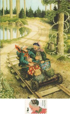 - Arrived: -- Inge Löök - Aunties No. Growing Old Together, Nordic Art, Crazy Friends, Art For Art Sake, Elements Of Art, Historical Pictures, Beautiful Paintings, Lovers Art, Vintage Art