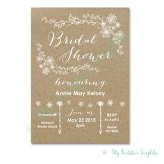 Charmant Bridal Shower Invitations Template 25 Bridal Shower Invitations Templates  Psd Invitations Free, 13 Free Printable Bridal Shower Invitations With  Style, ...