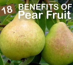 18 Benefits Of Pear Fruit And Its Nutritional Value: The health benefits of pear extend into the area of cancer risk as well. Fiber in pear binds together with a special group of secondary bile acids. Excessive amounts of secondary bile acid can increase the risk of colorectal cancer.