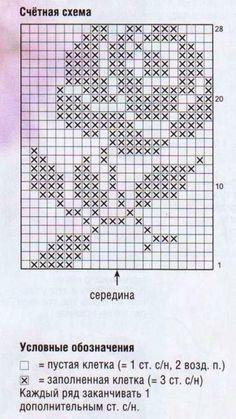 images attach c 10 112 316 Crochet Scarf Diagram, Crochet Flower Patterns, Crochet Chart, Filet Crochet, Crochet Motif, Crochet Doilies, Crochet Stitches, Afghan Crochet Patterns, Tiny Cross Stitch