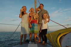 Sailing Totem - The Crew: The Totem crew includes me, Behan; my husband Jamie; our children, Niall, Mairen, and Siobhan. Sailing Totem - Jamie and I met Sailboat Living, Living On A Boat, Rv Living, Family Adventure, Adventure Travel, Travel With Kids, Family Travel, Family Of Five, Bainbridge Island
