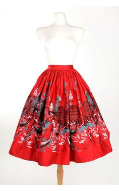 Pinup Couture - Jenny Skirt in Italian Landscape | Pinup Girl Clothing    This would be SO CUTE with a simple black top & heels!