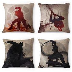 Marvel's Superhero American Cartoon Throw Pillow Case Cushion Cover Home Decor - Chinahof on eBay #homedecor #superhero #marvel