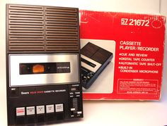Vintage Sears Cassette Player Recorder 1970s by retrowarehouse
