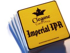 Game of Thrones Coasters House Clegane Three Dogs Imperial IPA by TrendyCoasters, $21.75