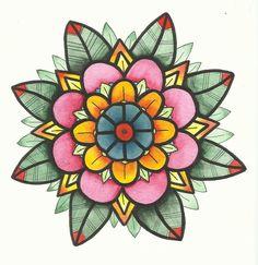 Watercolour Mandala , would be a beautiful foot tattoo