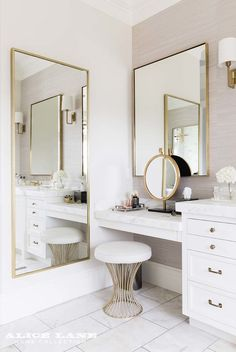 8 Dreamy Design Ideas for a Master Bathroom Interior Design Ideas Bathroom Design Dreamy Ideas Master Bathroom Interior, Bathroom Ideas, Bathroom Designs, Bathroom Renovations, Bathroom Bin, 3 Mirror Vanity, Bathroom Inspiration, Remodel Bathroom, Bathroom Vanities