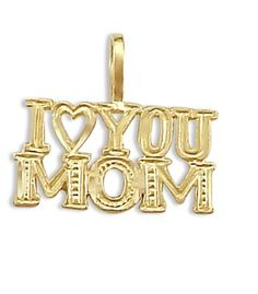 I Love You Mom Mother Pendant 14k Yellow Gold Charm.More info for glass bead necklaces;small necklaces for women;simple short necklaces;beautiful necklaces for women;necklaces for her could be found at the image url.(This is an Amazon affiliate link and I receive a commission for the sales)