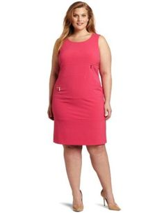 Calvin Klein Women`s Plus-size Zipper Dress Calvin Klein Women, Plus Size Outfits, Curvy, Dresses For Work, Glamour, Zipper, Clothes For Women, Elegant, Skirts
