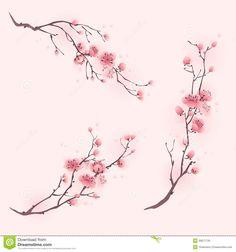 Pintura Oriental Do Estilo, Flor De Cerejeira Na Mola - Baixe conteúdos de Alta Qualidade entre mais de 55 Milhões de Fotos de Stock, Imagens e Vectores. Registe-se GRATUITAMENTE hoje. Imagem: 30677735