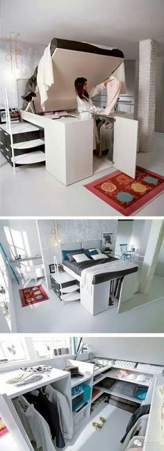 Clever storage for small places