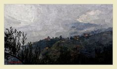 Monti+Simbruini-paesaggio-nebbia Digital, Painting, Art, Murals, Art Background, Painting Art, Kunst, Paintings, Performing Arts