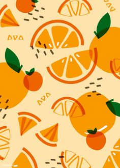 Oranges – Fruit Pattern Art Print by colorandpatterns Zebra Wallpaper, Wallpaper Wall, Orange Wallpaper, Pattern Wallpaper, Islamic Wallpaper, Fruit Pattern, Orange Pattern, Pattern Art, Pattern Design