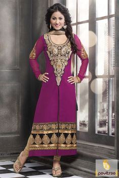 Tv actress akshara republica buy pink color pure cotton salwar kameez. Purchase this new trendy and stylish straight cut salwar suit for young generation ladies. #salwarsuit, #strightcutdress more: http://www.pavitraa.in/catalogs/latest-designer-salwar-kameez-and-dresses-collection/