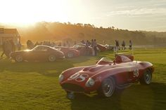 motomania:  Dawn mists at the Pebble Beach Concours d'Elegance...