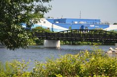 Beautiful Footbridge in Alpena Michigan by Maritime Heritage Center by Michigan Municipal League (MML), via Flickr