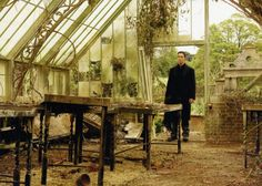 "brucewayneissexy: "" Batman Begins Deleted Scene: Bruce sets out to explore the caverns beneath Wayne Manor. He briefly remains in the door of the greenhouse and remembers the old days. In his mind he."