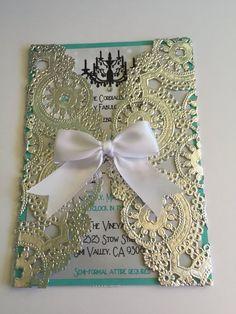 Fancy doily sweet sixteen/ baby shower/ wedding