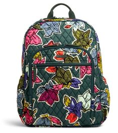 Vera Bradley Campus Tech Backpack in Falling Flowers NWT Freeship Fashion  Backpack 25015f079bc47