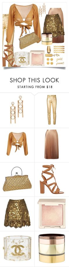 """Gold paint"" by robbys73 on Polyvore featuring moda, Marc Jacobs, Étoile Isabel Marant, Miss Selfridge, Gianvito Rossi, Matthew Williamson, Jouer, Chanel e Gemma Redux"