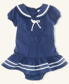 Ralph Lauren Baby Dress, Baby Girls Nautical Ruffle-Skirt Dress - Kids Baby Girl (0-24 months) - Macy's