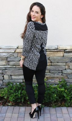 Stitch Fix review December 2015 - Papermoon Endicott Woven Dobby Back Knit Top