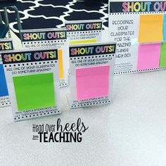 Show student-to-student appreciation with a shout out board.