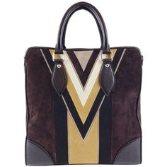 Pre-owned Louis Vuitton Innsbruck Cabas Limited Edition Brown... ($3,550) ❤ liked on Polyvore featuring bags, messenger bags, brown, suede bag, courier bag, zipper bag, zip bags and brown bag