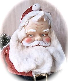 Vintage Santa Claus Doll  Christmas Figure  Santa by MissionJewels, $25.00