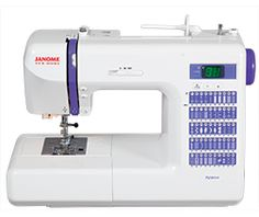New year - new DC model for Janome! The DC2014 continues a tradition of using one of the years most popular colors for the details on the machine. Don't miss your chance! It's only here for a year!