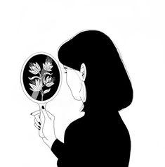 digital art girl black & white graphic design aesthetic drawing photoshop adobe anime style asian japanese chinese ethereal g e o r g i a n a : a r t Art And Illustration, Black And White Illustration, Aesthetic Drawing, Aesthetic Art, Arte Sketchbook, Tumblr Wallpaper, Minimalist Art, Cute Drawings, Dark Art