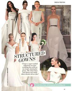 Elizabeth Stuart Margaret Gown- Perfect Wedding Magazine 'The Fashion Issue' February 2016 #elizabethstuart