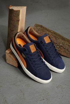 Puma Basket: Blue/Orange