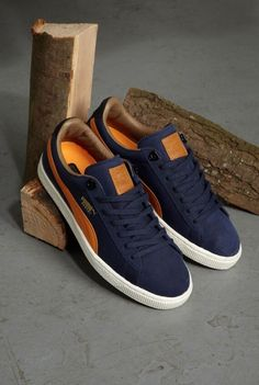 77c878e26a2f Puma Basket  Blue Orange Mens Puma Sneakers