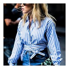 WHITE AND BLUE / We never met a striped shirt we didn't like.