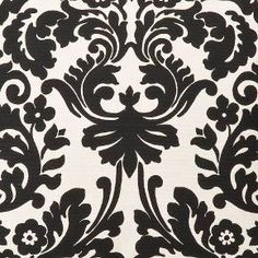 Outdoor Chaise Lounge Cushion - Black/White Floral