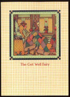 UNUSED 1997 Mary ENGELBREIT. GET WELL Greeting Card GET WELL FAIRY DIE-CUT w/env