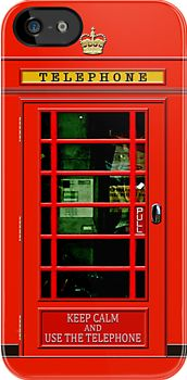 Keep calm and Use the red British public payphone made in USA apple iphone 4 4s, iphone 5, iphone 3, ipod 4 touch Case cover