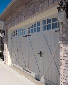 Garage Door Track Ideas and Pics of Garage Doors In Home Depot. Chi Garage Doors, Carriage House Garage Doors, Garage Door Paint, Garage Door Colors, Garage Door Windows, Modern Garage Doors, Garage Door Styles, Carriage Doors, Garage Door Makeover