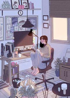 Stay home shit Art Anime, Anime Kunst, Cartoon Kunst, Cartoon Art, Aesthetic Art, Aesthetic Anime, Art And Illustration, Pixel Art, Character Art