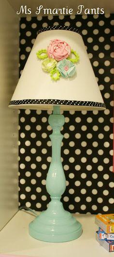 like polka dot wall behind lamp