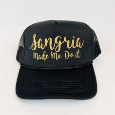 Items similar to Sangria Made Me Do It Hat 05415e13252